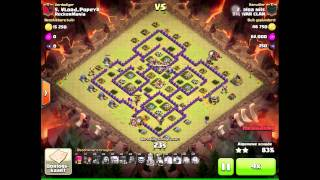 Clash of clans - Great Clan War attacks with among others 2 golavaloonion attacks.