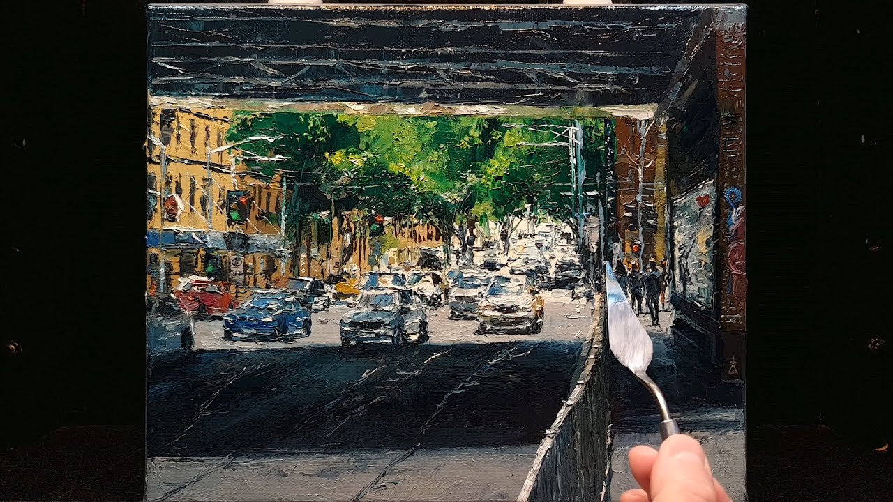 Light and Shadow - Normal Speed - Palette Knife | Brush - Oil Painting