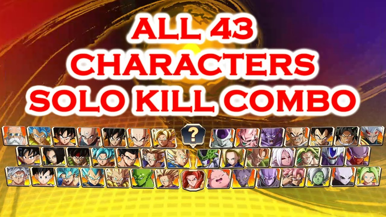 Download All 43 Characters Solo ToD Combos - DBFZ