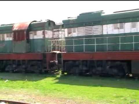 HSH Prrenjas Albania wrecks of T 669, 2003 locomotives