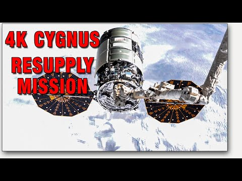 Cygnus NG-13 4K Time Lapse Arrival And Installation At The ISS