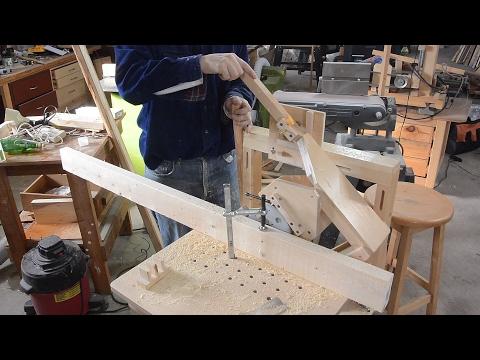 Triple tenon joined lumber rack