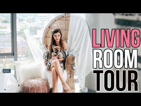MY APARTMENT TOUR + How I Designed My Living Room on a Budget || Sarah Belle