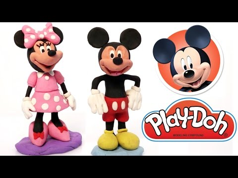 Mickey & Minnie Mouse Play Doh clay animation Disney Characters