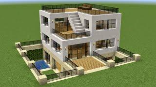 Minecraft - How t๐ build a cozy modern house