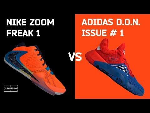 Обзор и сравнение Nike Freak 1 Vs Adidas D.O.N. Issue#1
