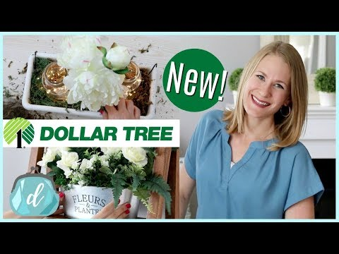 NEW DOLLAR TREE DIYS! 💚 Farmhouse Floral Decor (perfect for Mother's Day!)