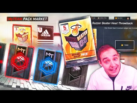 NBA 2K17 My Team NEW LIMITED TIME BUZZER BEATER PACKS! HISTORIC TEAM ONLY PACKS! HEAT!