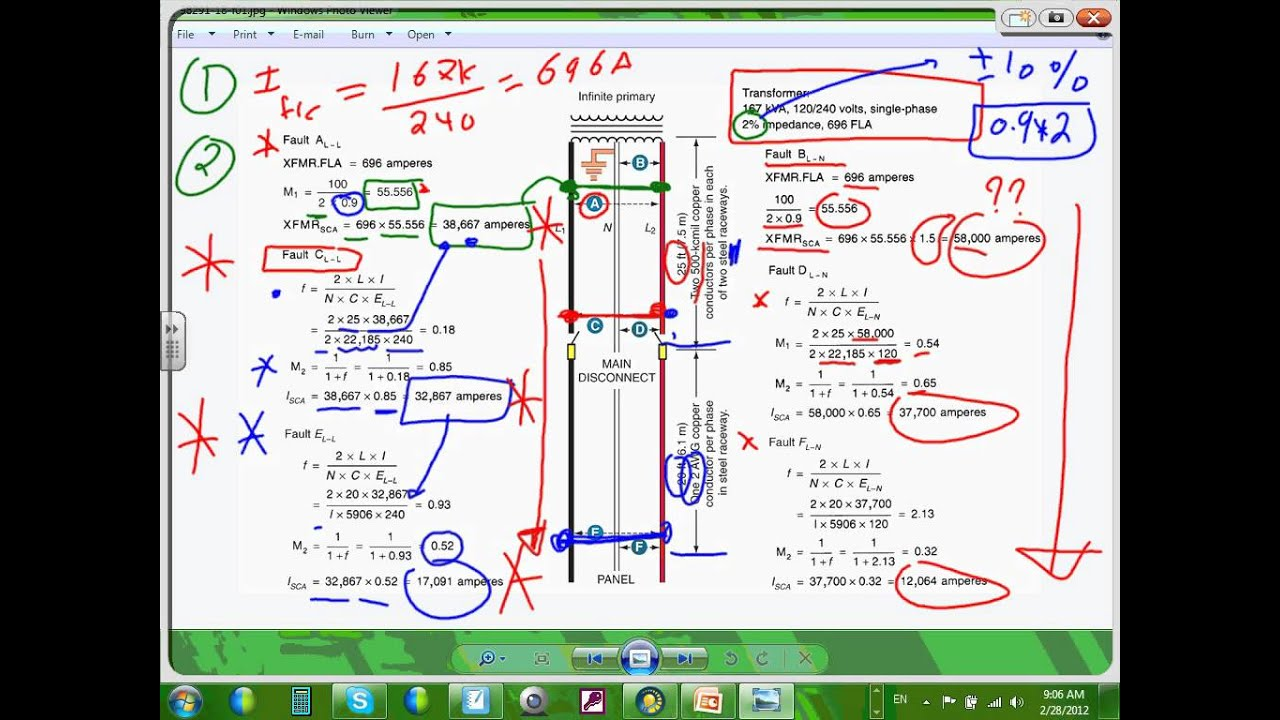 Short-circuit Calculation And Ocpd Coordination-ewc-ch 18--02-28-12  Wmv