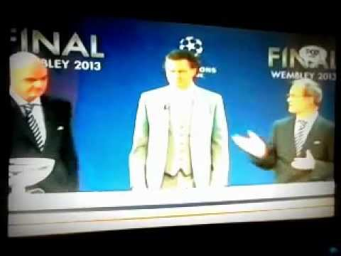 Sorteo Cuartos de Final UEFA Champions League 2013 - YouTube