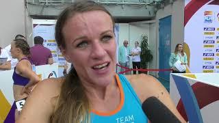 Simona Vrzalová po 1500 m na Kontinentálním poháru
