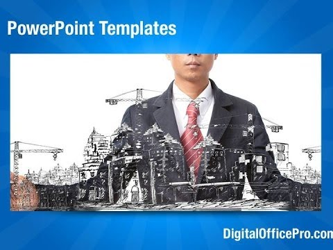 Building Construction Sketch PowerPoint Template Backgrounds