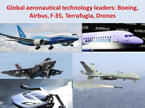 Global aeronautical technology excellence: Boeing, Airbus, F 35, Terrafugia, Drones