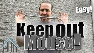 How to keep out mice and other pests! How to seal up exterior! Easy!