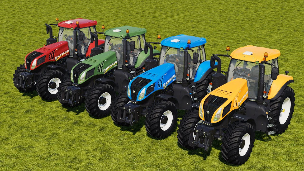 LORD OF COLORS ! COLORED NEW HOLLAND TRACTORs ! MINI BALING MAKING & STORAGE ! Farming Simulator 19