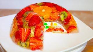 ЕСЛИ ВЫ ЛЮБИТЕ ФРУКТЫ И ЖЕЛЕ ПРИГОТОВЬТЕ ЭТОТ ФРУКТОВЫИ ЖЕЛЕИ НЫИ ТОРТ Fruit Jelly Jello Cake