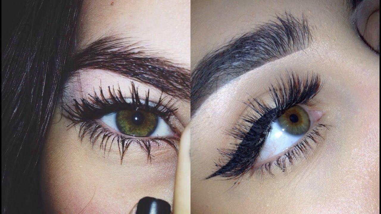 tumblr girl tutorial | getting longer lashes