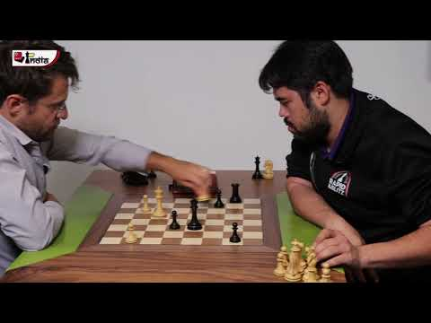 A baffled Nakamura after squandering an easy win against Aronian