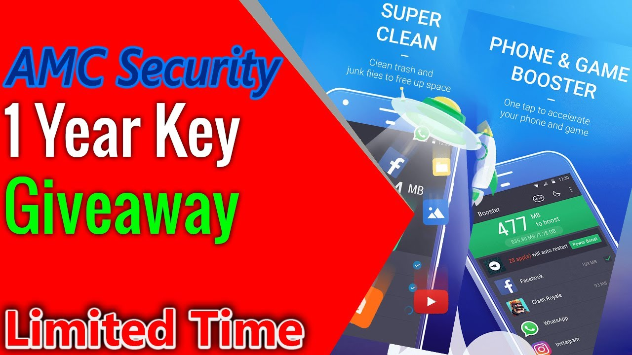 AMC Security Giveaway 1 Year Licence Free | Best Security App for Android  2020