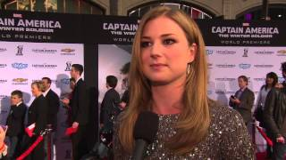 "Captain America: The Winter Soldier: Emily VanCamp ""Agent 13"" Movie Premiere Interview"