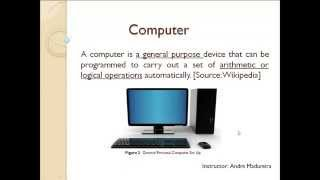 Class 1 - Computer - Definition and History