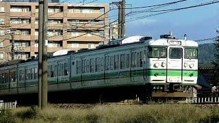 115系N35編成臨時快速「越後紅葉ライトアップ号」9340M 新潟→柏崎