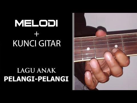 Tutorial Melodi + Kunci Gitar Lagu Anak - Pelangi Pelangi