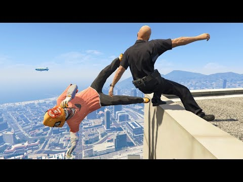 GTA 5 CRAZY Jumps/Falls Compilation #4 (Grand Theft Auto V Fails Funny Moments)