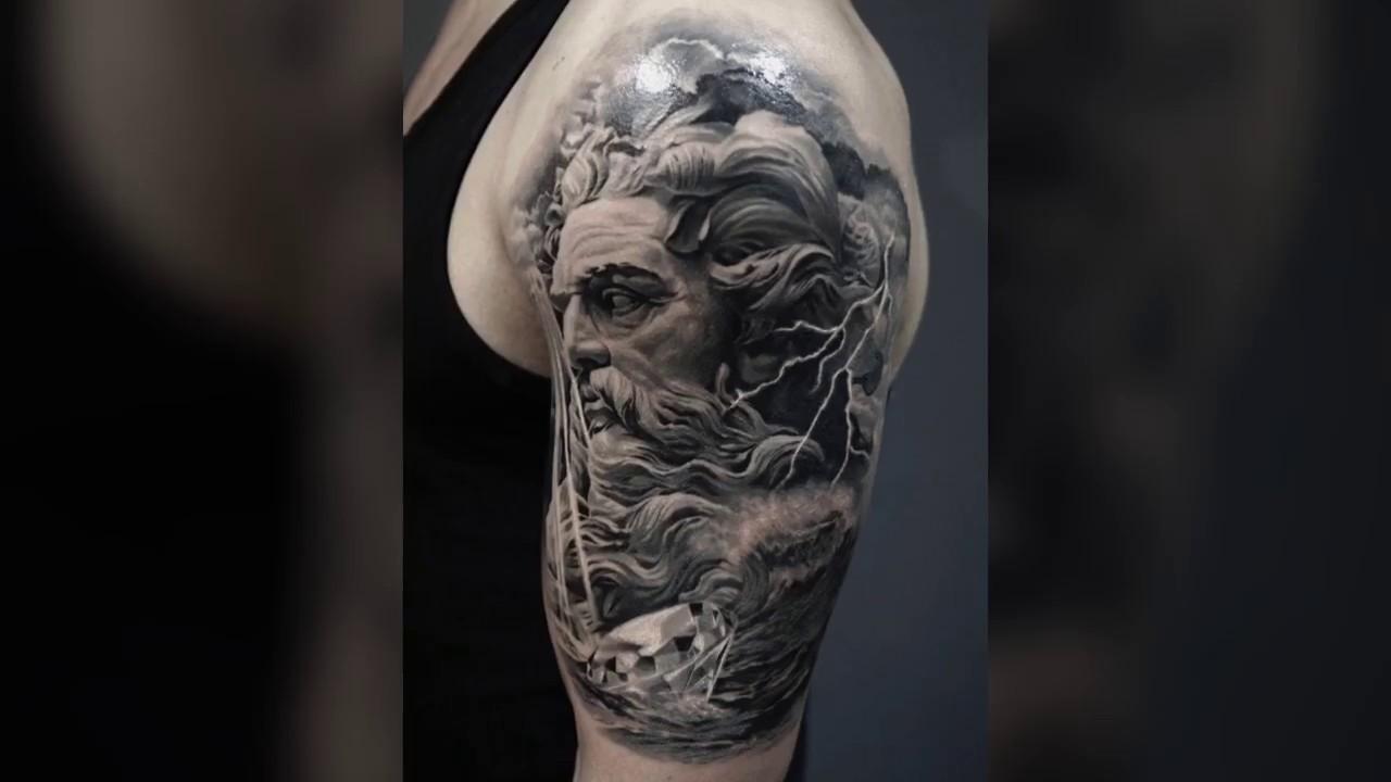 Poseidon Tattoo Design Story Art Youtube