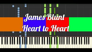 James Blunt - Heart to Heart (Piano Tutorial)