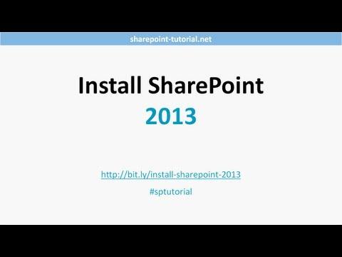Install SharePoint 2013