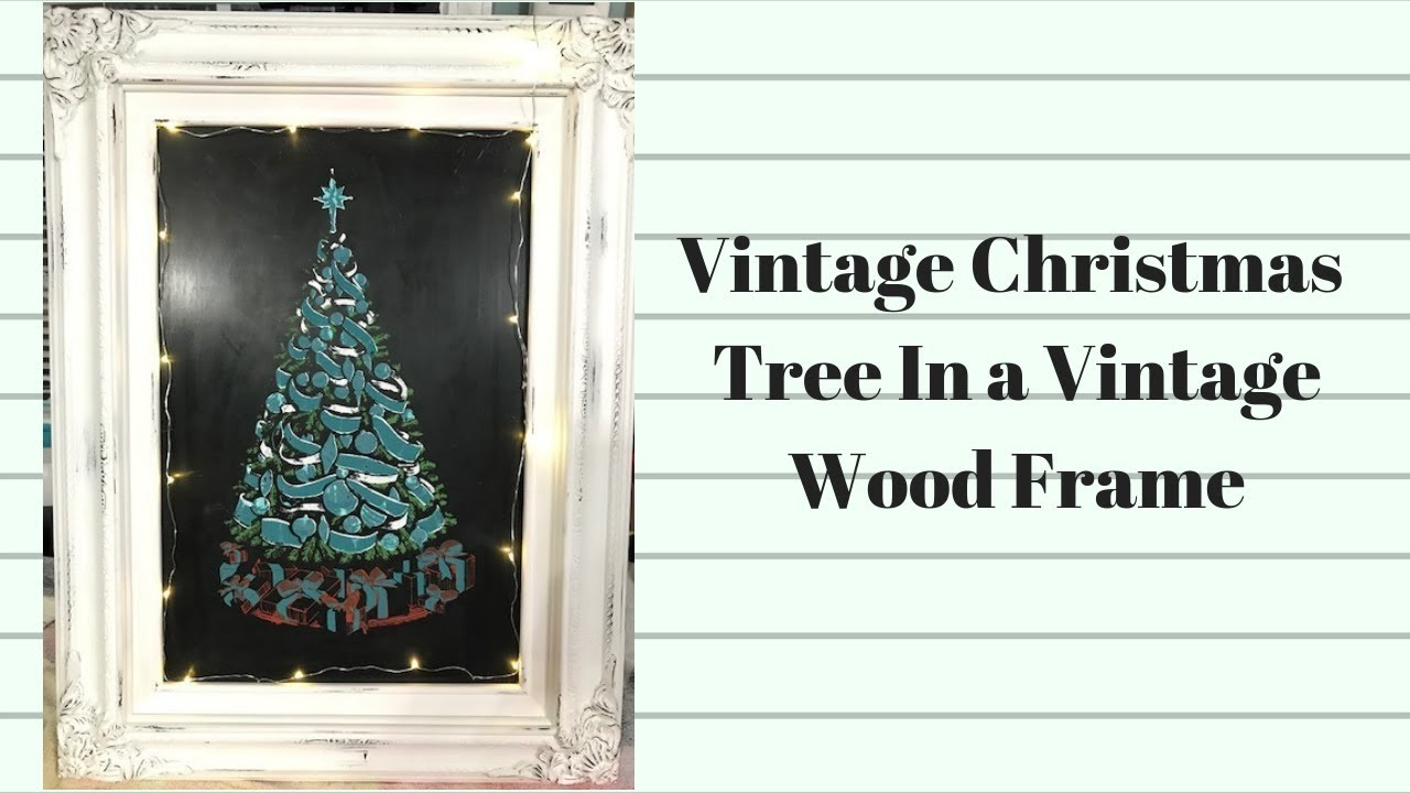 Chalking A Vintage Christmas Tree Wall Decor