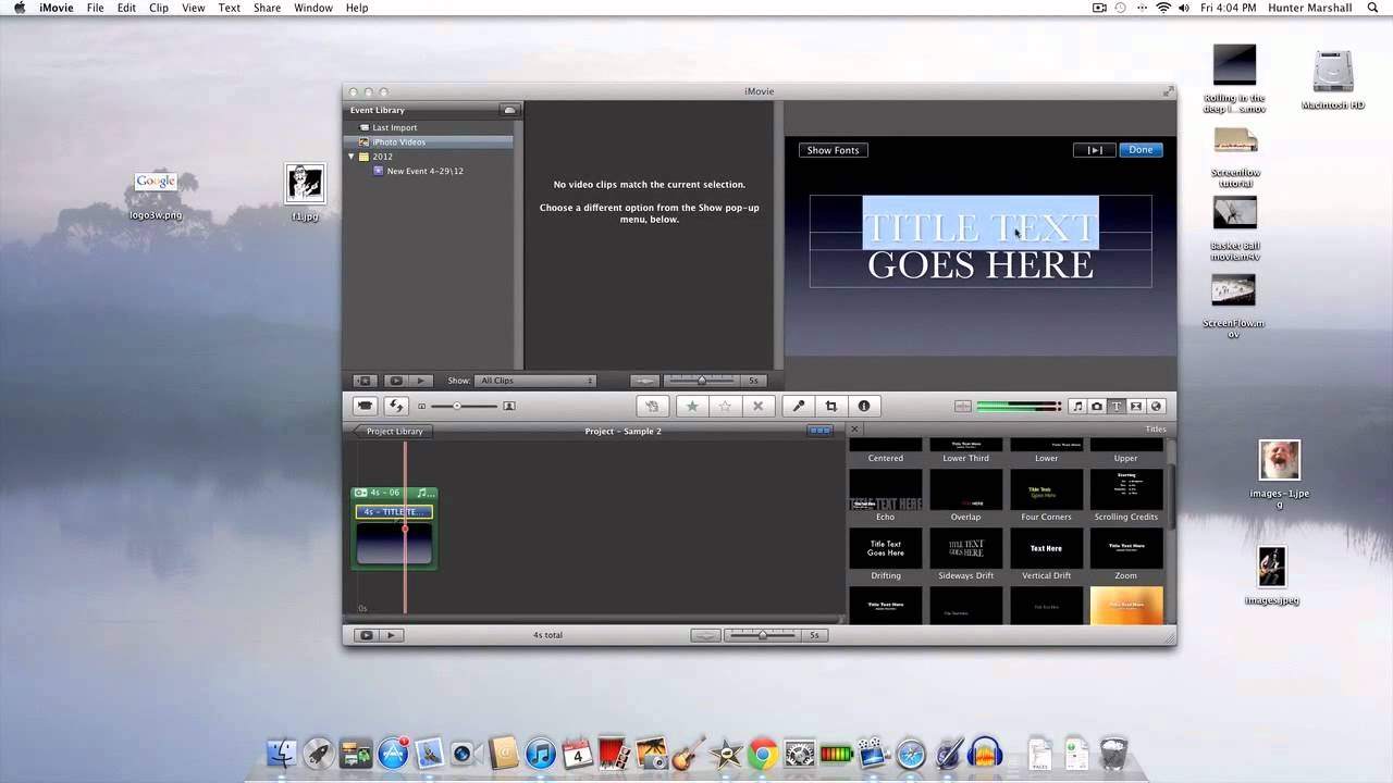 how to add lyrics to a video in imovie