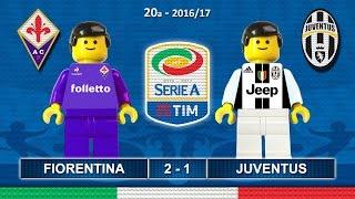 FIORENTINA JUVENTUS 2-1 • Serie A 2016/17 ( Film Lego Calcio ) Goal e Highlights 15/01/2017