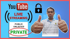 🔴 How to PRIVATE LIVE STREAM in YouTube - 2020 🔴