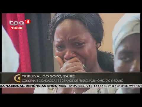 Tribunal do Soyo, Zaire: Condena 4 cidadãos à 16 e 24 anos de prisão, por homicídio e roubo