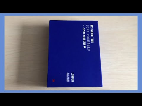 Unboxing BTS Love Yourself Speak Yourself In Wemblet London Tour DVD