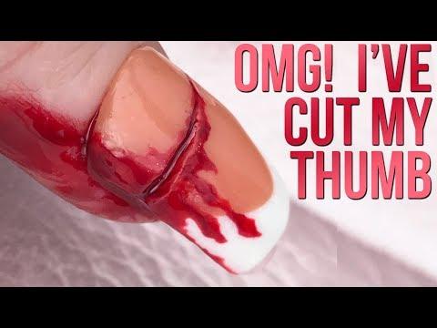 Help! I've Cut My Thumb Nail - Halloween Prank Nail Tutorial