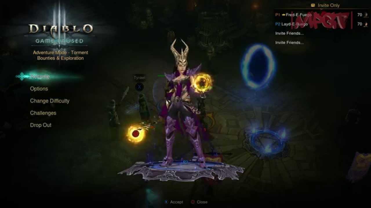 Diablo III Ultimate Evil Edition (PS4 Gameplay) #ElgatoHD60 @ 1080p 60fps