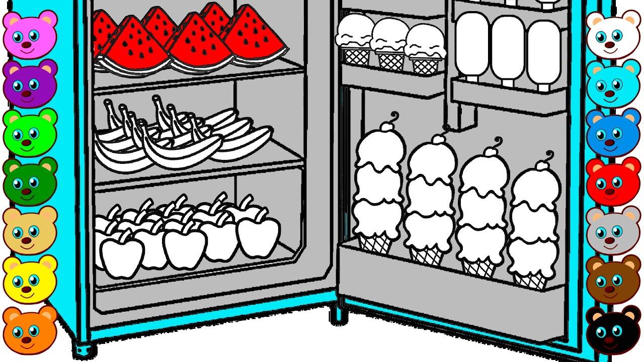 Fridge of Ice Cream Fruits amp Candy