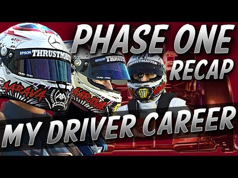 F1 MyDriver Career Seasons 1 - 3 (Phase One) Recap: 2015 - 2017