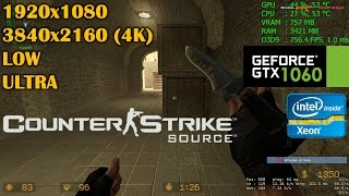 GTX 1060   Counter Strike: Source - 1080p & 4K - LOW and HIGH settings!