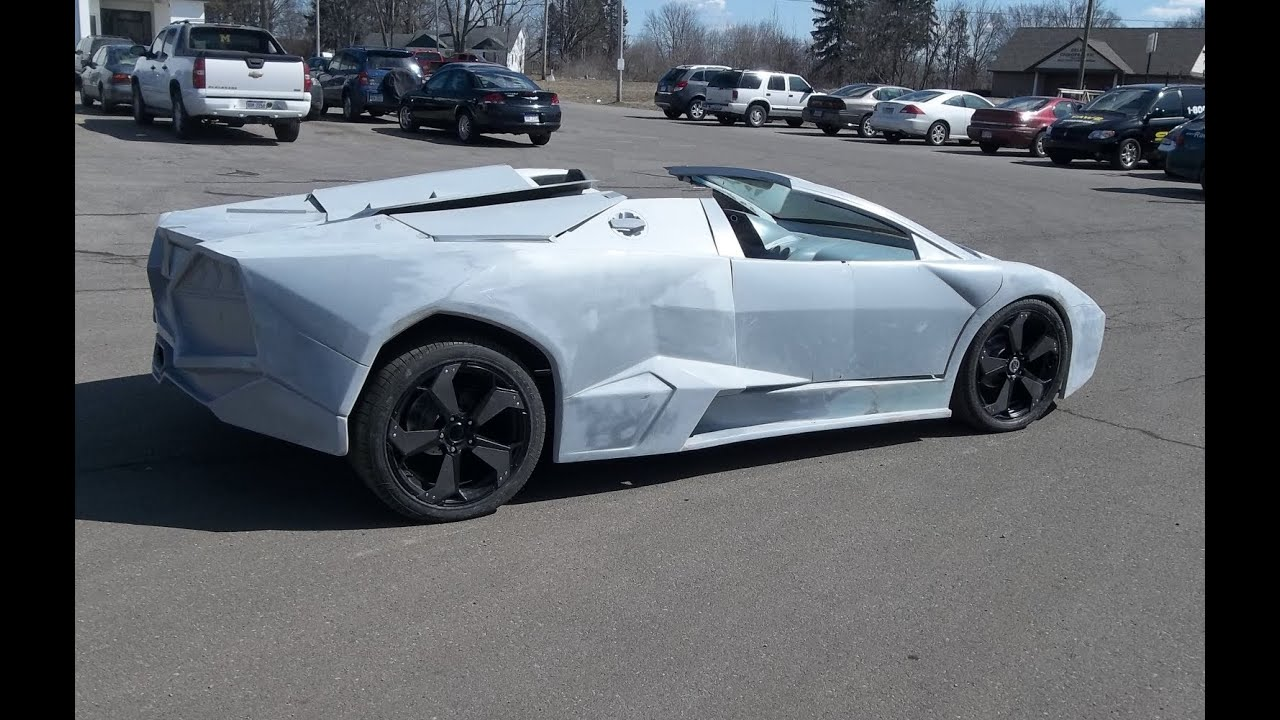 Lamborghini Reventon Replica First Test Drive With Body Mounted   Kit Car