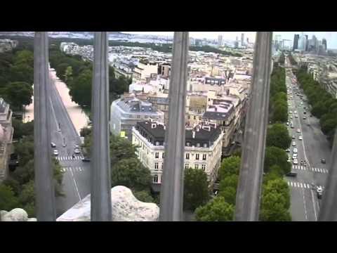 Tour Guide Courtney on the Arc de Triomphe