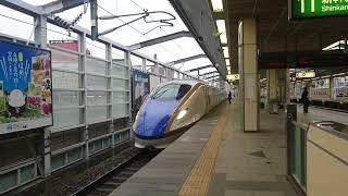 運転最終日の長野駅に着いた、北陸新幹線上り「はくたか」598号。
