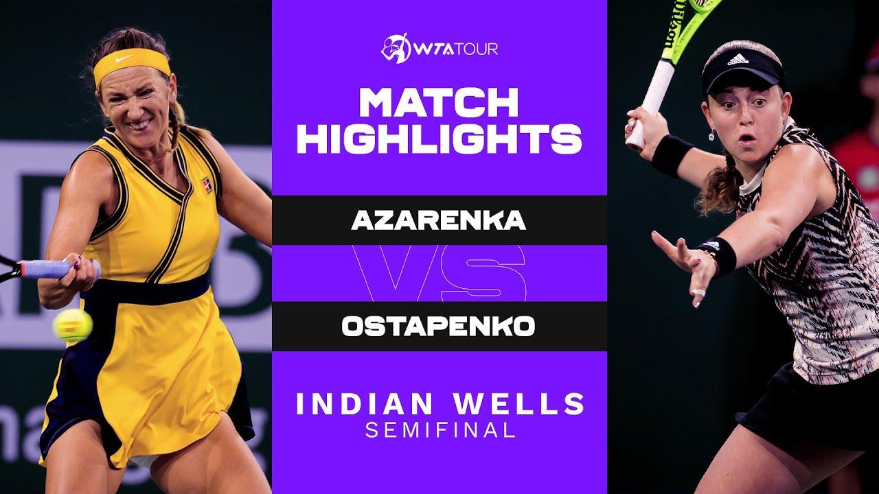 Download Victoria Azarenka vs. Jelena Ostapenko | 2021 Indian Wells Semifinal | WTA Match Highlights