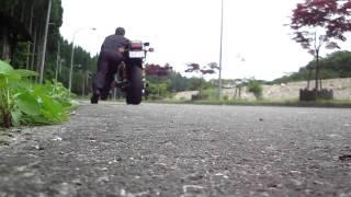 バイク押しがけ