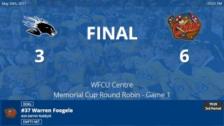 Saint John Sea Dogs vs. Erie Otters - Semifinal - 2017 MasterCard Memorial Cup