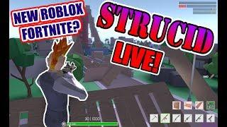 STRUCID! NEW ROBLOX FORTNITE! ROBLOX LIVE STREAM!!