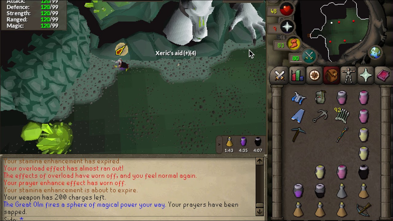 Flawless Olm kill with full budget gear (OSRS)